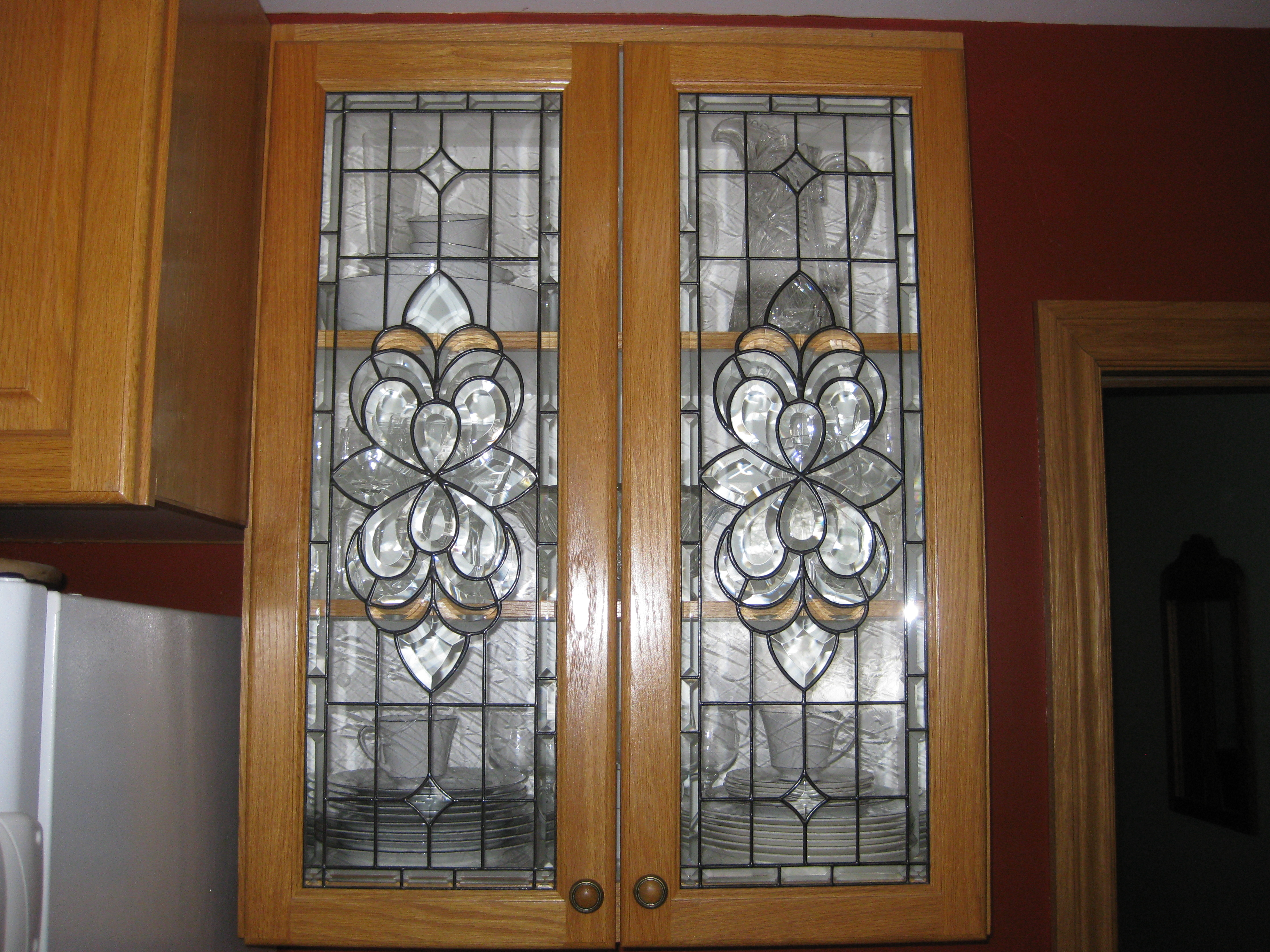 Home entrance door stained glass entrance doors for Exterior kitchen doors with glass